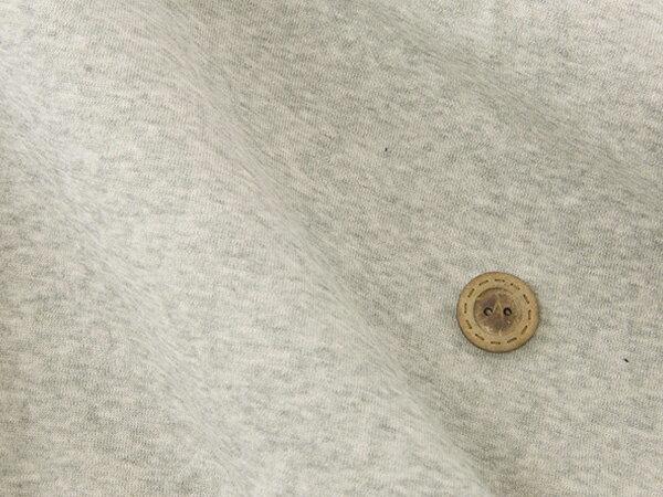 【ワンコインセール 無地ニット★グレー杢】肌触り抜群の60/パイル生地 テンション中の縫いやすい生地【1m単位】(x-734)