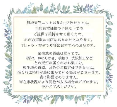 天竺無地ニットおまかせ3色セット!!【1.2mカット×3色】