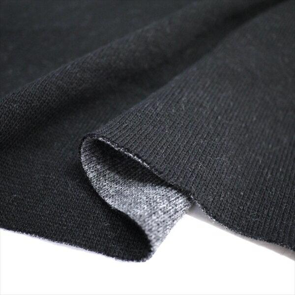 ダイナホット 16s紡毛リバーシブルニット ブラック&チャコール 遠赤外線 ニット生地