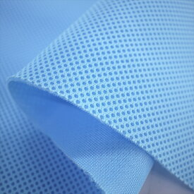 抗菌ダブルラッセルメッシュ サックス ソフトタイプ110cm巾【抗菌 防臭】【ノンホル】【クッション性】【ニット生地】【ベビー】【ポーチ】