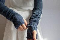 【2双セット】UVカットリネンアームカバー約50cmユニセックスメール便送料無料レディースメンズメッシュ紫外線冷房対策涼感麻UVカット率最大98.2%