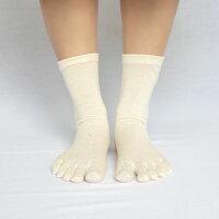 シルクコットン五本指ソックス&シルクコットンソックス2足セットレディース23-25cm全5色かかとあり冷えとり重ね履きセットnaturalsunny
