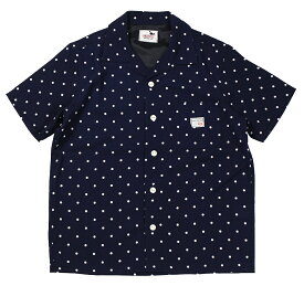 GANGSTERVILLE [-DIAMONDS - S/S SHIRTS- NAVY size.S,M,L,XL]