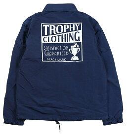 TROPHY CLOTHING [-BOXLOGO WARMUP JACKET- Navy size.36,38,40,42]