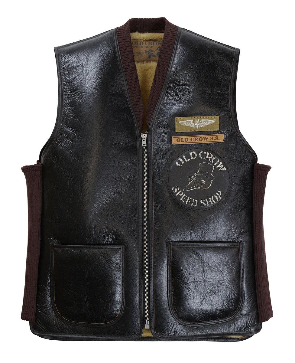 OLD CROW [-OLDROD B - VEST- BLACK size.S,M,L,XL]