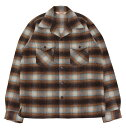 TROPHY CLOTHING [-Frisco Shaggy Wool L/S Shirt- Brown size.14,15,16,17]
