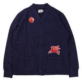 TROPHY CLOTHING [-OD Sweat V Cardigan- Navy size.36,38,40,42]