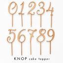 KNOP 【木製 ケーキトッパー 0〜9 セット】 誕生日 バースデー 結婚式 ウェディング ブライダル ウエディン…