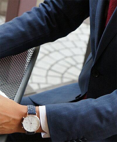 """Knot(ノット)""""クラシッククロノグラフ""""シルバー&ホワイト時計本体のみ(ベルト別売り)腕時計/メンズ/レディース/サファイアガラス/日本製/MADEINJAPAN/送料無料"""