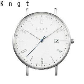"""【ギフト包装無料】Knot(ノット)""""クラシック デイト""""シルバー & ホワイト 40mm時計本体のみ(ベルト別売り)腕時計/メンズ/レディース/サファイアガラス/日本製/MADE IN JAPAN/【ギフト】"""