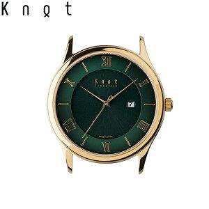 """Knot(ノット)""""クラシック レディースソーラー""""イエローゴールドゴールド & グリーン時計本体のみ(ベルト別売り)ソーラームーブメント/腕時計/レディース/女性向け/サファイアガラス/日本製/MADE IN JAPAN/"""