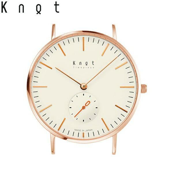 Knot(ノット)クラシック/スモールセコンドローズゴールド & アイボリー時計本体のみ(ベルト別売り)メンズ/男性/レディース/女性/腕時計/サファイアガラス/日本製/ウォッチ/MADE IN JAPAN/おしゃれ/