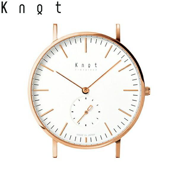 """Knot(ノット)""""クラシック スモールセコンド""""ローズゴールド & ホワイト時計本体のみ(ベルト別売り)腕時計/メンズ/レディース/サファイアガラス/日本製/MADE IN JAPAN/"""