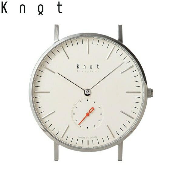 "Knot(ノット)""クラシック スモールセコンド""シルバー & アイボリー時計本体のみ(ベルト別売り)腕時計/メンズ/レディース/サファイアガラス/日本製/MADE IN JAPAN/"