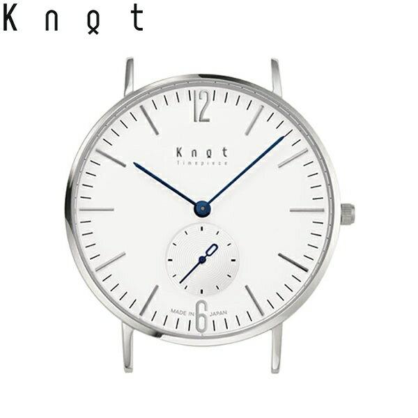 "Knot(ノット)""クラシック スモールセコンド""シルバー & ホワイト時計本体のみ(ベルト別売り)腕時計/メンズ/レディース/サファイアガラス/日本製/MADE IN JAPAN/"