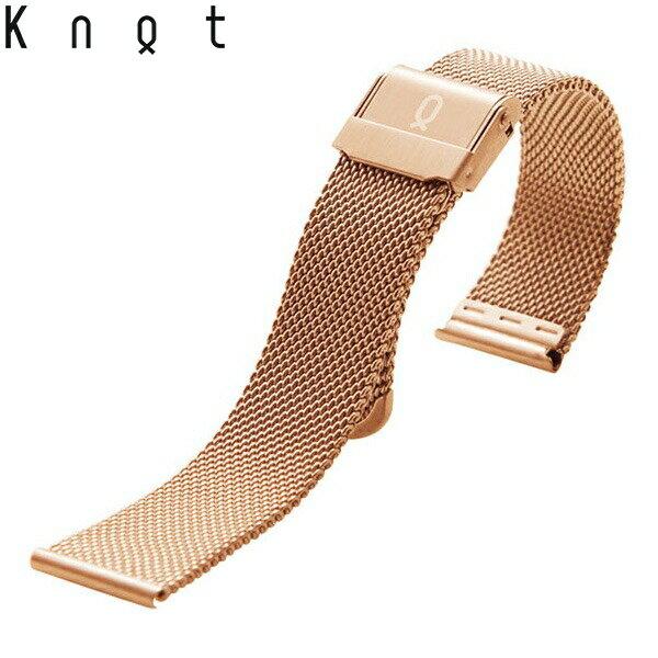 Knot(ノット)ミラネーゼ メッシュベルト 替えベルトローズゴールドベルトのみ購入はメール便のため代引き・着日指定・包装は不可スペアベルト/ご自分でサイズ調整可能なスライド式バックル/ステンレスメッシュ/日本製/
