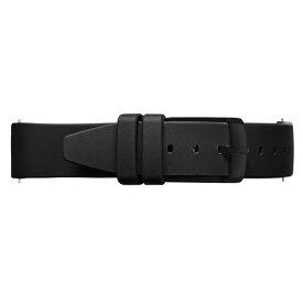 Knot(ノット)シリコンラバーストラップ 時計ベルト 18mmブラック & ブラックバックルベルトのみ購入はメール便のため代引き・着日指定・包装は不可裏面エンボス加工/腕時計/日本製
