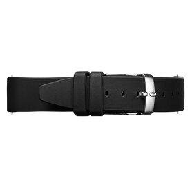 Knot(ノット)シリコンラバーストラップ 時計ベルト 18mmブラック & シルバーバックルベルトのみ購入はメール便のため代引き・着日指定・包装は不可裏面エンボス加工/腕時計/日本製