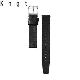 Knot(ノット)栃木レザーベルト ストレートシェイプ 時計ベルト 18mm ブラック | ベルトのみ購入はメール便のため代引き・着日指定・包装は不可 スペアベルト 日本製 腕時計ストラップ 母の日