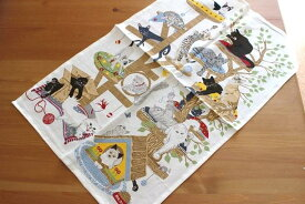 ULSTER WEAVERS アルスターウィーバーズ リラックスしているネコ 猫 ねこ キッチンタオル かわいい おしゃれ ティータオル リネン 麻 タペストリー 飾り イギリス雑貨