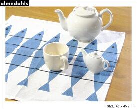 アルメダールス 北欧 フィッシュ にしん ナプキン かわいい おしゃれ キッチンタオル ハーフリネン キッチン雑貨 テーブルクロス 北欧雑貨 almedahls スウェーデン