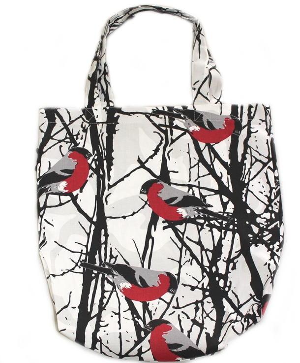 ★ アルメダールス エコバッグ 鳥と木々 バード 小鳥トートバッグ ショッピングバッグ 北欧 デザイン【almedahls】 ★