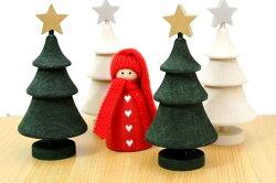 ★お安い郵便なら220円/個★ラッセントレークリスマスツリー&スタークリスマスホワイトグリーン北欧かわいいおしゃれオブジェインテリア手作り木製置物LarssonsTra北欧雑貨