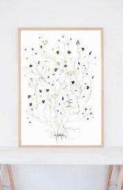 ポスター 北欧 草木の標本 アート SWEDISH TREE スウェーデンの春 サイズ 50x70cm アート おしゃれ インテリア タペストリー 新生活 デザイン 部屋 模様替え ナチュラル 高級感 壁かけ 素材 北欧雑貨