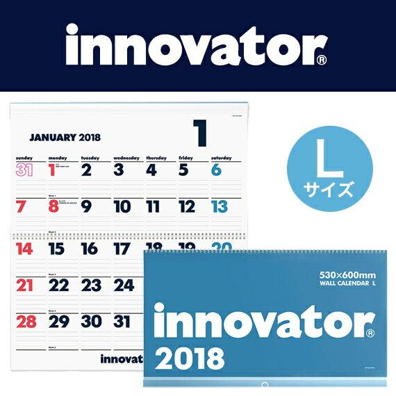 [送料無料]【innovator イノベーター】カレンダー壁掛<L>2018(シンプル おしゃれ 大判 壁掛けカレンダー 2018年 壁掛け カレンダー 2018年カレンダー 家族 2018年1月始まり 書き込み 北欧 書き込みカレンダー 大きい 年間カレンダー クリスマスプレゼント)