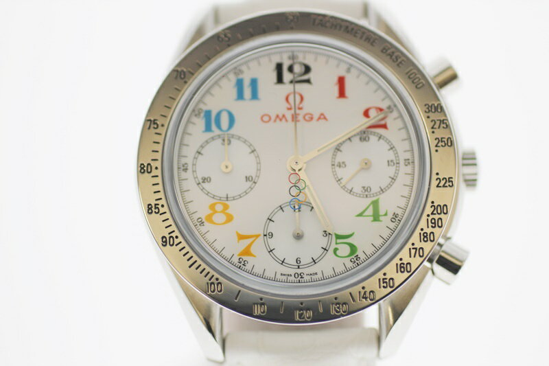 【中古】OMEGA オメガ スピードマスター オリンピックコレクション シェル文字盤 自動巻き USED-AB メンズ 腕時計 m19-1200300925800021
