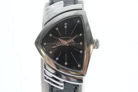【中古】HAMILTON ハミルトン ベンチュラ クオーツ 黒文字盤 USED-A レディース 腕時計 m19-1200307925800039