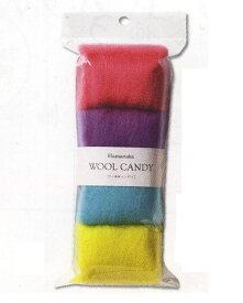 ハマナカ フェルト羊毛 ウールキャンディ4色セット ティーンカラー