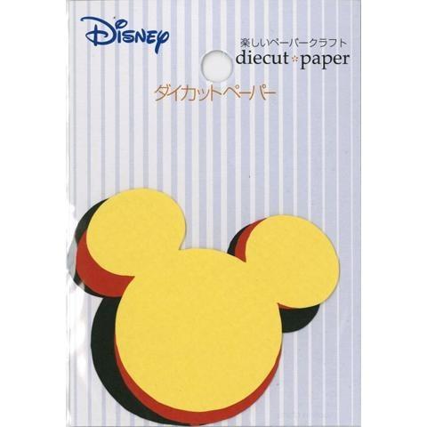 【ペーパーパーツ】DDP2 ミッキーアイコン (4枚) (アルバム スクラップブッキング かわいい おしゃれ)