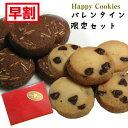 バレンタイン「クッキー2種セット」≪Happy cookies≫ココア&アーモンド+チョコチップ(各5枚入)×2袋入 職場 会社 義理チョコ お返し…