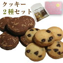 ホワイトデーにも「クッキー2種セット」≪Happy cookies≫ココア&アーモンド+チョコチップ(各5枚入)×2袋入 職場 会社 義理チョコ お…