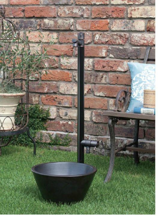 ジラーレW ブラックブロンズメッキ水栓柱