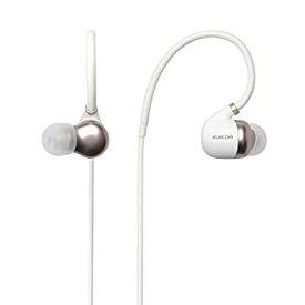 【中古】エレコム Bluetooth ブルートゥース イヤホン ワイヤレス aptX対応 高音質 通話対応 シュア掛け PureSound 1年間保証 ホワイト LBT-HPC50MPWH