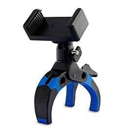 【中古】Mobile-Catch パワークランプ King of Kings Edition BLUE 開脚幅0~75mm 自由雲台付属 スマートフォンホルダー付属 プラスチック製 390233