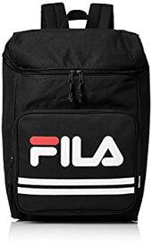 【中古】[フィラ] リュック スクエア A4サイズ対応 PC収納 背面 ファスナー 15L FM2007 ブラック