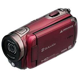 【中古】GREEN HOUSE 3.0型液晶 HDデジタルビデオカメラ レッド GHV-DV30HDAR