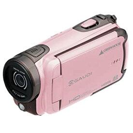 【中古】GREEN HOUSE 乾電池駆動HDデジタルビデオカメラ ピンク