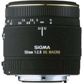 【中古】SIGMA 単焦点マクロレンズ MACRO 50mm F2.8 EX DG ニコン用 フルサイズ対応