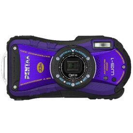 【中古】PENTAX 防水デジタルカメラOptio WG-1パープル 約1400万画素 広角28mm 光学5倍 CALSモード 10m防水 超解像 1cmマクロ OPTIOWG-1PU