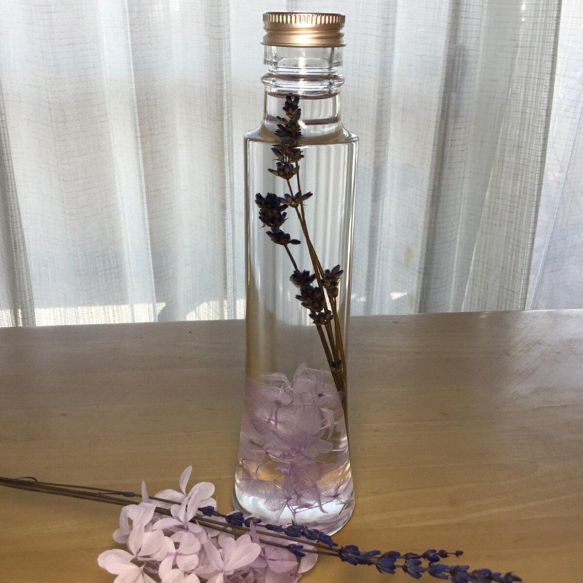 〜プレゼントに最適 癒しのお花〜『ハーバリウムフラワー』コーンボトル ラベンダーハーバリウム 瓶 ビン ガラス瓶 ガラスビン贈り物 贈物新感覚のインテリア雑貨です