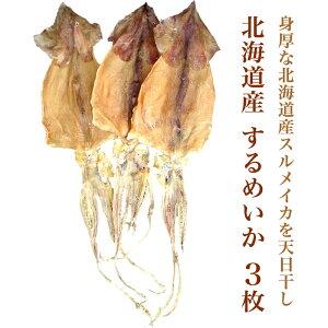 北海道産 するめいか 3枚【スルメイカ するめいか】