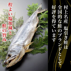 程よい塩加減と鮭の旨み「村上名産塩引き鮭」は全国的な鮭のブランドとして好評を得ています。