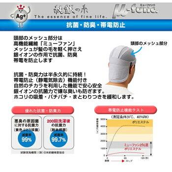 帽子ネット部分は抗菌防臭仕様現場熱中症対策グッズcoolbitクールビットビルダーVヘルメット冷却カバー汗取りヘルメットインナーとして一年中快適に使える