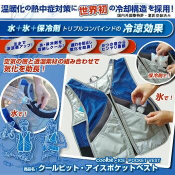 水・氷・保冷剤トリプルコンバインドの冷涼効果