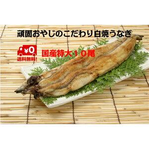頑固おやじの白焼きうなぎ 特大10尾 愛知県産 わさび醤油で食す お鍋にも < 鰻 丑の日 土用の丑の日 >