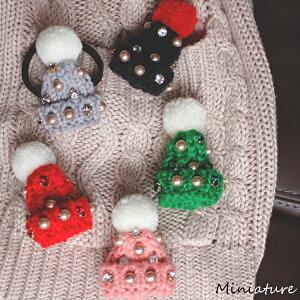サンタ 帽子 ニット ブローチ ヘアゴム クリスマス 雑貨 ビジュー パール 可愛い アクセサリー バッグチャーム 子供 大人 キッズ 誕生日 バレンタイン プレゼント おしゃれ ペア お揃い きら